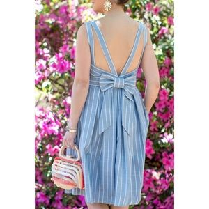 Gall Meets Glam Samantha Stripe Fit & Flare Dress